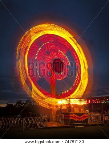 Fairground Ride At Night