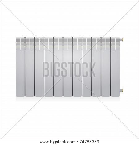 Vector illustration of gray radiator