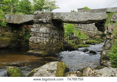 Clapper Bridge Over Blackbrook