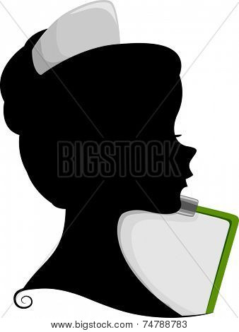 Illustration Featuring the Silhouette of a Nurse