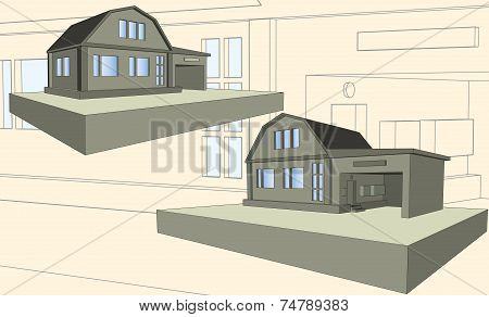 Storey House With Garage