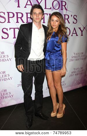 LOS ANGELES - OCT 25:  Joe Brooks, Lexi Ainsworth at the Taylor Spreitler's 21st Birthday Party at the CBS Radford Studios on October 25, 2014 in Studio City, CA
