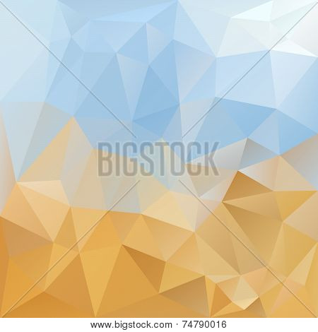 Sky Desert Triangular Background