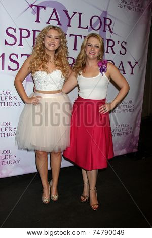 LOS ANGELES - OCT 25:  Taylor Spreitler, Melissa Joan Hart at the Taylor Spreitler's 21st Birthday Party at the CBS Radford Studios on October 25, 2014 in Studio City, CA