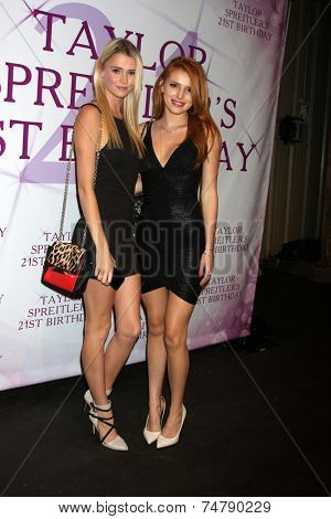 LOS ANGELES - OCT 25:  Bella Thorne, guest at the Taylor Spreitler's 21st Birthday Party at the CBS Radford Studios on October 25, 2014 in Studio City, CA