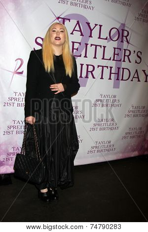 LOS ANGELES - OCT 25:  Haley Hasselhoff at the Taylor Spreitler's 21st Birthday Party at the CBS Radford Studios on October 25, 2014 in Studio City, CA