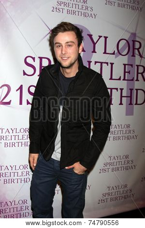 LOS ANGELES - OCT 25:  Sterling Beaumon at the Taylor Spreitler's 21st Birthday Party at the CBS Radford Studios on October 25, 2014 in Studio City, CA