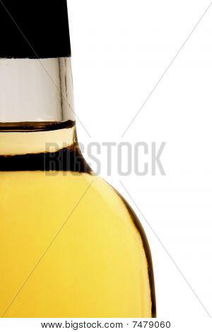 Vertical Closeup Photo Of White Wine Bottle