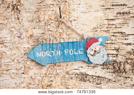 Direction Sign To North Pole