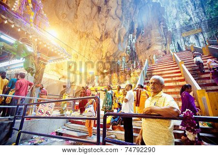 Batu Caves, Malaysia - Jan 18 2014 : Thaipusam At Batu Caves Temple, Malaysia On January 18, 2014. T