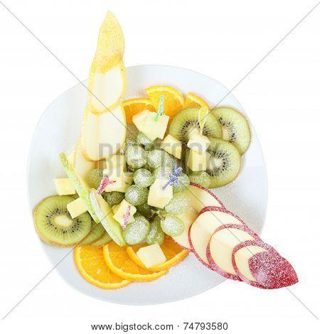 Top View Of Fruit Vase