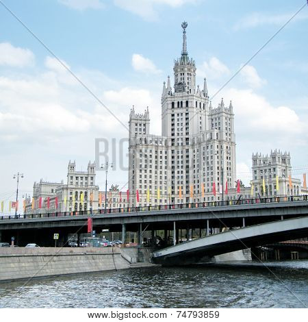 Moscow Highrise Building On Kotelnicheskaya Quay 2011