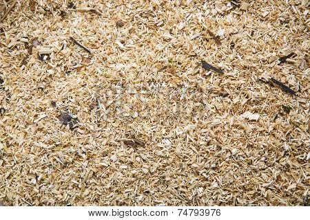 Sawdust As A Background
