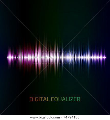 Abstract colorful music equalizer