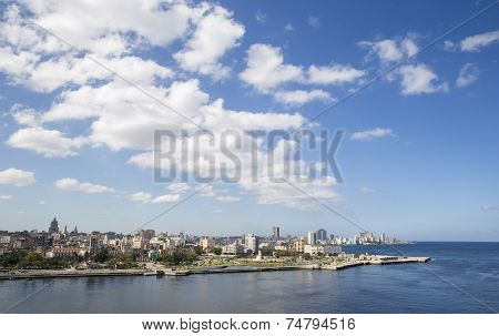 Clouds over the Havana Bay