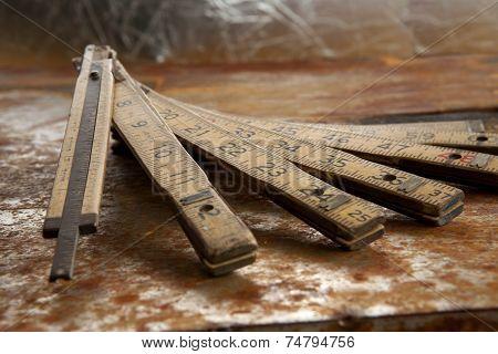 Vintage folding ruler