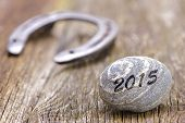 pic of talisman  - horseshoe as talisman for success at new year 2015 - JPG