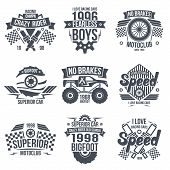 pic of bigfoot  - Emblems retro vintage race and super cars - JPG