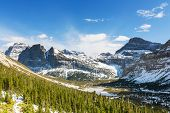 pic of landforms  - Glacier National Park - JPG