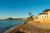 pic of costa blanca  - Early morning sunrays on Altea Bay Costa Blanca Spain - JPG