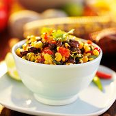 pic of poblano  - fire roasted mexican black bean and corn salsa - JPG