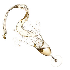 pic of squirt  - Glass of champagne with splash - JPG