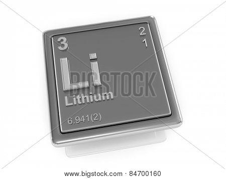 Lithium. Chemical element. 3d