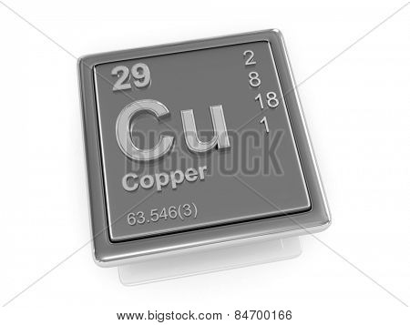 Copper. Chemical element. 3d