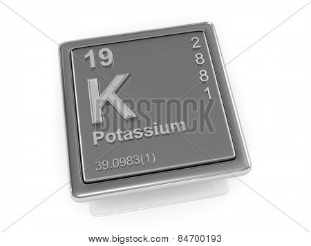 Potassium. Chemical element. 3d