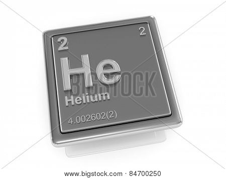 Helium. Chemical element. 3d