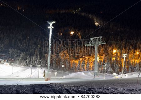 Snowpark In Ski Resort