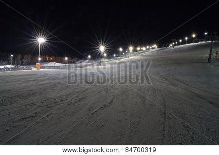 Skiing At Night