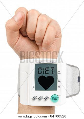 Diet and Digital blood pressure monitor