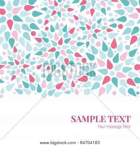 Vector abstract colorful drops horizontal border card template