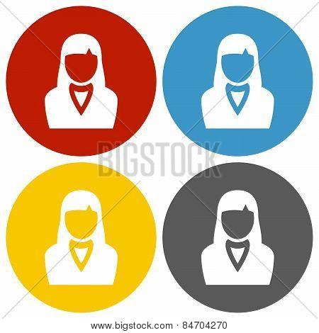 Circle Series Businesswoman Icon