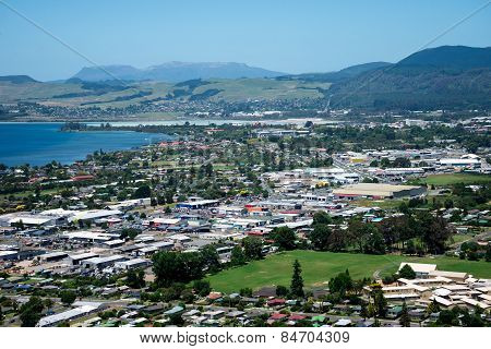 Rotorua city and lake view in New Zealand