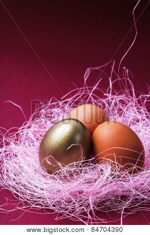 Business, finance. A rare golden egg