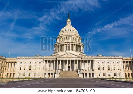 Capitol building Washington DC eastern facade USA US congress