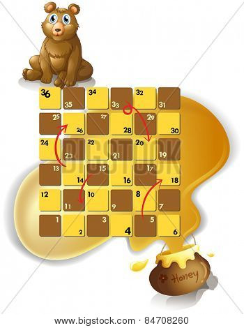 boardgame with a bear and honey