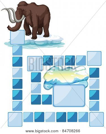 boardgame with a mammoth and iceberg