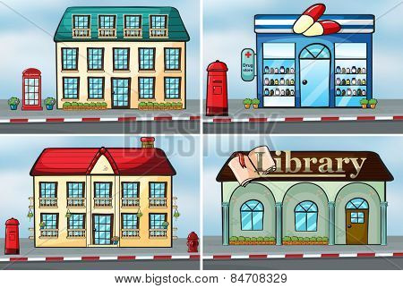 houses and stores
