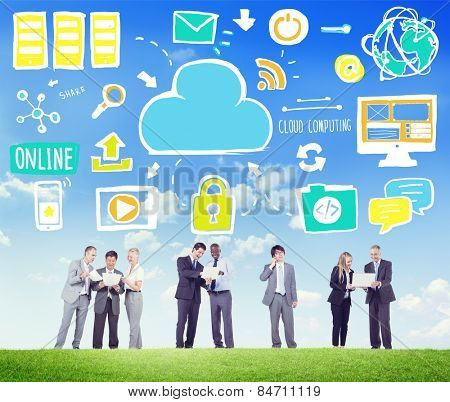 Business People Cloud Computing Discussion Team Concept