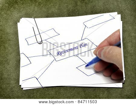 White paper cards with paperclip for business or school on green background