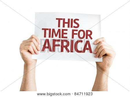 This Time for Africa card isolated on white background