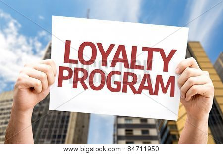 Loyalty Program card with urban background
