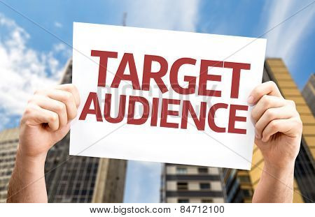 Target Audience card with urban background