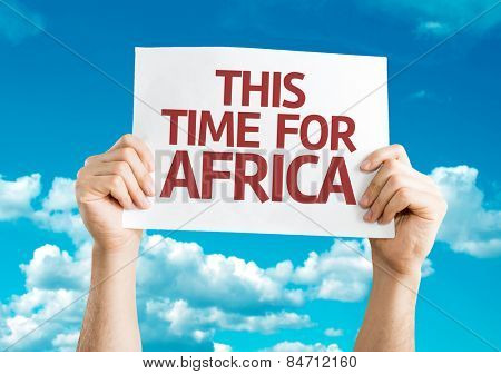 This Time for Africa card with sky background