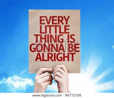 Every Little Thing is Gonna be Alright card with sky background