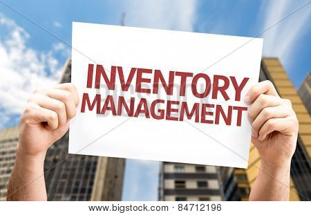Inventory Management card with urban background