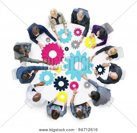 Brainstorming Cog Collaboration Team Togetherness Concept